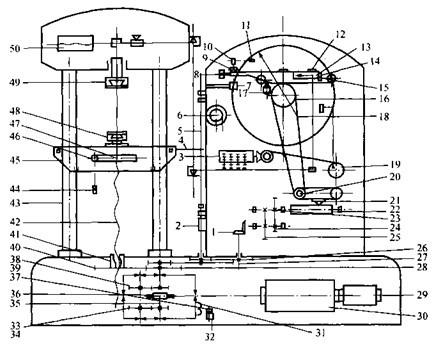 电机连续拉伸模具结构图